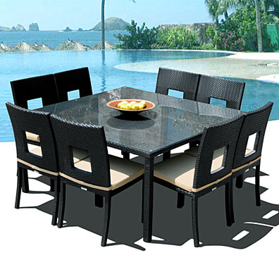 Mangohome 2 999 00 Nicole 9 Pc Outdoor Patio Dining Table Chair Set