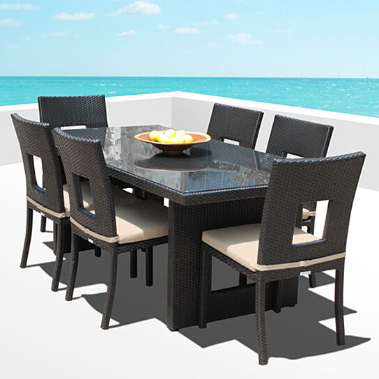 Nicole 7 Pc Outdoor Patio Dining Table Chair Set