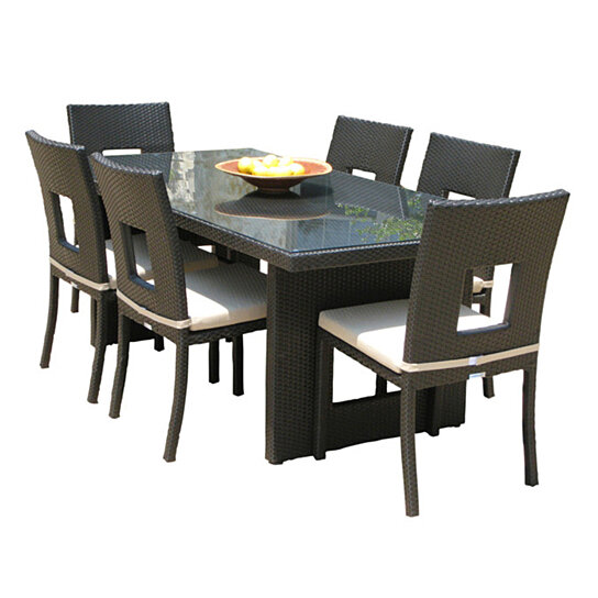 Remarkable Outdoor Patio Wicker Furniture All Weather New Resin 9 Piece Dining Table Chair Set Cjindustries Chair Design For Home Cjindustriesco