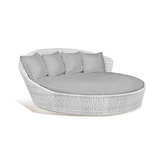 Fine O Lounge Outdoor Patio Wicker Round Double Bed Set Cjindustries Chair Design For Home Cjindustriesco
