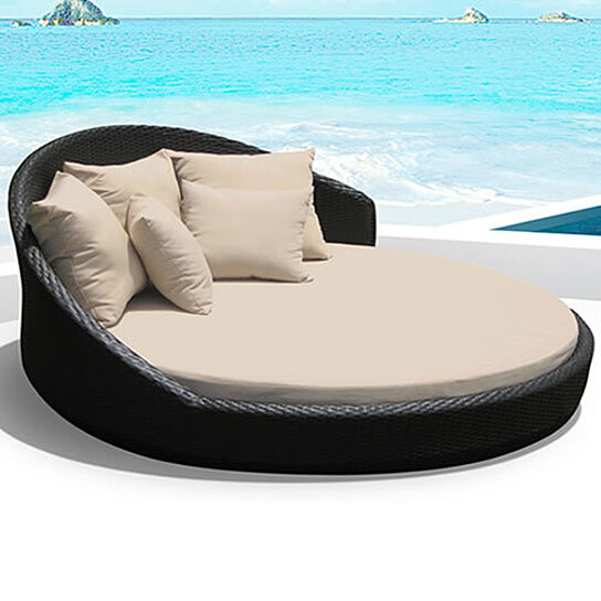O Lounge Outdoor Patio Wicker Round