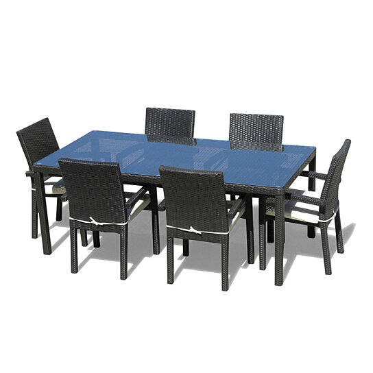 Buy Cozumel 7 Pc Outdoor Patio Dining Table Set With 6 Chairs By Mangohome On Dot Bo