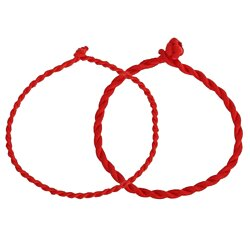 Lucky Bracelet Red Rope Bracelets for Women Cord String Line Jewelry
