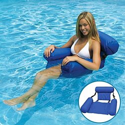 Swimming Floating Chair Foldable Pool Seats Inflatable Bed Lounge Chairs Adult