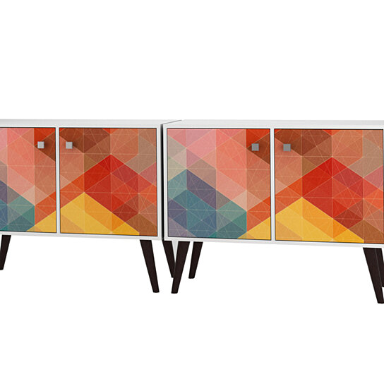 Buy 2 Piece Avesta Double Side Table By Manhattan Comfort