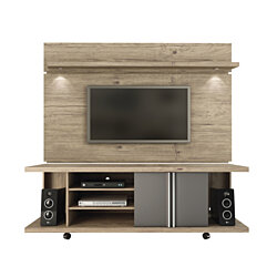 Carnegie TV Stand and Park 1.8 Floating Wall TV Panel with LED Lights