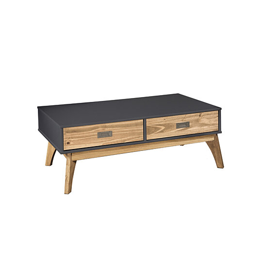 Buy Rustic Mid-Century Modern 2-Drawer Jackie 1.0 Coffee