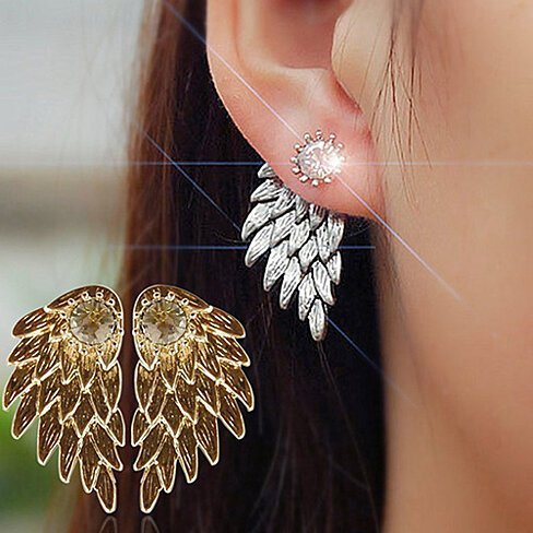 Angel Wing Earrings made with Crystals from Swarovski: 4 Colors