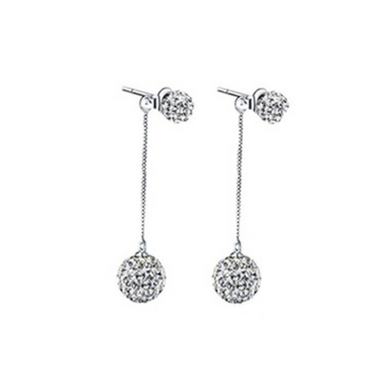 Sterling Silver Long Shambala Studs Made With Crystals From Swarovski