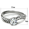 1.12 Ct Round Cut Zirconia Stainless Steel Curved Engagement Ring Womens Sz 5-10