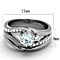 1.19 Ct Round Cut Cubic Zirconia Stainless Steel Wedding Ring Set Women's Size 5-10