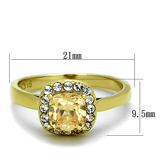 buy 1 24 ct cushion cut chagne cz stainless steel halo