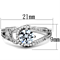 1.25 Ct Round Cut Zirconia High Polished Stainless Steel Engagement Ring Size 5-10