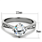 1.30 Ct Round Cut Cubic Zirconia Stainless Steel Engagement Ring Women's Sz 5-10