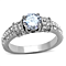 1.32Ct Round Cut Cubic Zirconia Stainless Steel Engagement Ring Womens Size 5-10