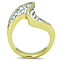 1.62 Ct Top Grade Crystal 14K Gold Plated Stainless Steel Cocktail Ring Size 5-10