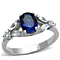 1.67 Ct Oval Cut Blue Montana Cz Stainless Steel Engagement Ring Women's Size 5-10