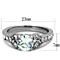1.82Ct Cubic Zirconia Stainless Steel 316 Engagement Ring Womens Size 5-10