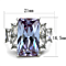13.34Ct Radiant Light Amethyst Cz Stainless Steel Engagement Ring Womens Sz 5-10