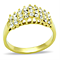 14K Gold Ion Plated Stainless Steel 0.81 Ct Crystal Cocktail Fashion Ring Size 5-10