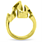 14K Gold Plated Stainless Steel 316 Wave Cocktail Fashion Ring Women's Size 5-10