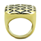14K Gold Plated Stainless Steel Top Grade Crystal Fashion Ring Women's Size 5-10