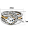 1Ct Round Cut Two Toned Stainless Steel 2 Piece Wedding Ring Set Women's Sz 5-10
