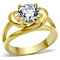 2.0 Ct Round Brilliant Cut Zirconia 14K Gold Plated Engagement Ring Women's Size 5-10