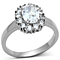 2.15 Ct Halo Oval Cut Zirconia Stainless Steel Engagement Ring Women's Sz 5-10
