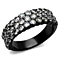 2.4 Ct Zirconia Stainless Steel Black Ion Plated Fashion Ring Women's Sz 5-10