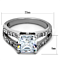 2.75 Ct Princess Cut Aaa Zirconia Stainless Steel Engagement Ring Womens Sz 5-10