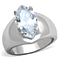 3.44 Ct Marquise Solitaire Cubic Zirconia Stainless Steel Engagement Ring 5-10