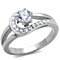 .56 Ct Round Cut Zirconia High Polished Stainless Steel Engagement Ring Size 5-10