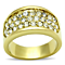 .63 Ct Crystal 14K Gold Ion Plated Stainless Steel Cocktail Fashion Ring Size 5-10