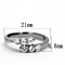 .66 Ct Round Cut Zirconia Stainless Steel Promise/Cuff Ring Women's Size 5-10