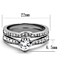 .75 Ct Cubic Zirconia Stainless Steel 316 Wedding Ring Set Women's Size 5-10