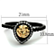 .9 Ct Champagne Halo Cz Black Stainless Steel Engagement Ring Women's Sz 5-10