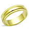 Gold Ion Plated Stainless Steel 316, 5.2 Mm Wide Wedding Band Womens Sizes 5-10
