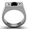 Men's 1.68Ct Montana Princess Cut Simulated Diamond Stainless Steel Ring Sz 8-13