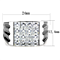 Men's 2.88 Ct Princess Cut Simulated Diamond Silver Stainless Steel Ring Size 8-13