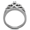 Queen Royalty Princess Crown Silver Stainless Steel Fashion Ring Women's Sz 5-10