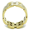 Stainless Steel 316 Two Toned Ion Plated Eternity Fashion Ring Women's Size 5-10