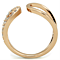 Stainless Steel Rose Gold Plated .48 Carat Crystal Fashion Ring Womens's Size 5-10