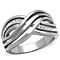Stainless Steel Women's Round Cut Aaa Cz Anniversary/Infinity Ring Band Sz 5-10