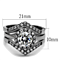 Women's 2.25 Ct Round Cut Aaa Cz Stainless Steel Wedding Ring Band Set Size 5-10