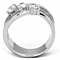 Women's .93 Ct Round Cut Zirconia Stainless Steel Anniversary Ring Band Sz 5-10