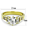 Women's Stainless Steel 316, 1.25 Carat Zirconia Gold Plated Engagement Ring