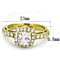 Women's Stainless Steel 316 1.6 Carat Zirconia Gold Plated Halo Engagement Ring