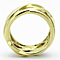 Women's Stainless Steel 316 14K Gold Ion Plated 13Mm Wide Fashion Ring Band