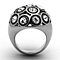 Women's Stainless Steel 316, 3.78 Carat Crystal Dome Cocktail Fashion Ring